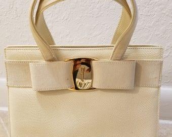 Rare Vintage SALVATORE FERRAGAMO KELLY Satchel Handbag