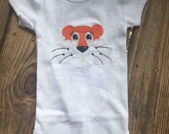 Auburn Tiger boy applique shirt