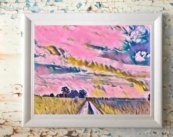 Digital Artwork Print - Wallalong Walk Series: The walk