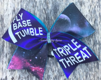 I Fly, I Base, I Tumble Triple Threat Cheer Bow