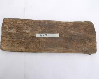 """LARGE Driftwood piece 1 Flat, Wide driftwood plank  18"""" x 6.5""""  x  1""""  driftwood shelf - Beach Wedding signs -  craft wood  A-7"""