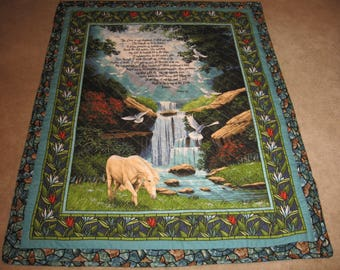 23rd Psalm The Lord is My Shepherd Lap Quilt