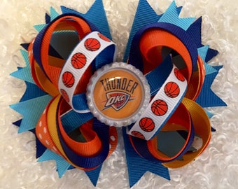 NBA OKC Thunder Basketball Boutique Hair Bow