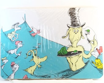 Dr Seuss Puzzle - Upcycled Book Art Puzzle - Recycled Children's Book Puzzle - Wood Tray Puzzle