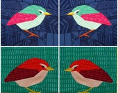 NZ Rock Wren- A Foundation Paper Pieced Pattern