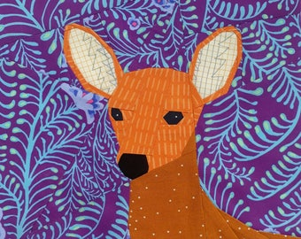 Oh Deer- A Foundation Paper Pieced Fawn- Woodland Quiltalong2 Block 4