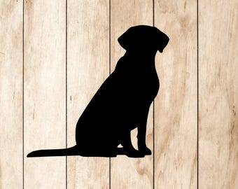 Labrador Retriever Vinyl Decal - Lab Dog Sticker Pets Black Yellow Chocolate Silver Lab Dogs