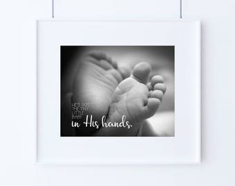 Baby Gift - Nursery print - Whole world in His hands - 16x20 or 8x10 - Baby Song - He's Got the Whole World - Christian Baby Gift