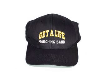 get a life marching band snapback dad hat - vintage