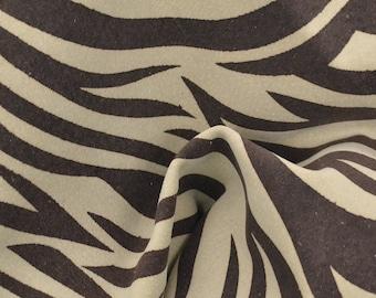 "Fashion Zebra's Disguise Leather Pig Hide 8"" x 10"" Project Piece 1 1/2 oz TA-56800 (Sec. 4,Shelf 7,B)"