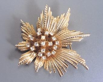 Vintage HAR Rhinestone Cluster Brooch Pin