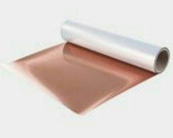 Rose Gold Metallic HEAT TRANSFER stretch vinyl 14 inch x 15 foot/5 yard roll