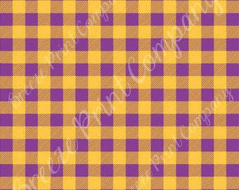 Purple and yellow-gold buffalo plaid craft vinyl sheet - HTV or Adhesive Vinyl -  lumberjack plaid HTV1837