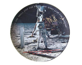Apollo Moon Landing Plate - Texas Ware Plate - NASA - Space Program - Apollo 11
