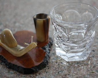Lighthearted Vintage Bar Ware Snail Toothpick Holder from London