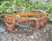 Be strong when you are weak. Be brave when you are scared. Be badass everyday.... leather double wrap bracelet.
