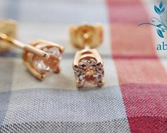 Morganite Rose Gold, Pink Morganite, Morganite Earrings, Rose Gold Earrings, Gemstone Studs, Gemstone Earrings, Diamond Studs