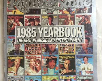 Vintage Rolling Stone Magazine 1985 Yearbook The best in Music and Entertainment 463/464 Sylvester Stallone Don Johnson Bruce Springsteen