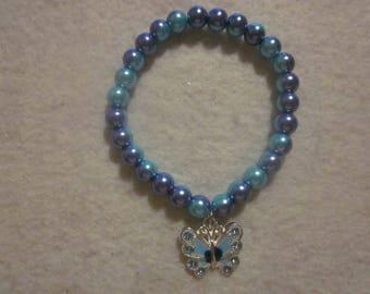 Two Tone Butterfly Bracelet