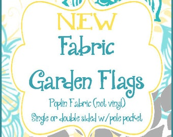 Garden Flag made with Poplin Material, Can be done in any design