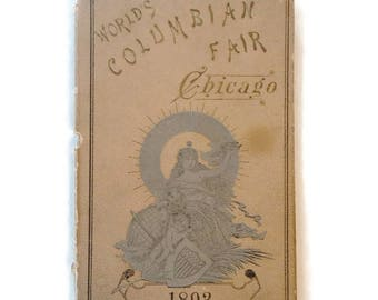 On Sale 1893 Columbian Worlds Fair Chicago Fold Out Picture Book