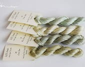 Hand dyed cotton thread / floss (6 strands) 4 colours exclusive lemon and apple collection for cross stitch / embroidery