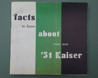 1951 KAISER OWNERS MANUAL with Service policy Owners id card Original