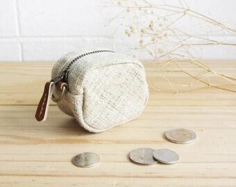 Coin Purses Hand-woven Natural Color Hemp.