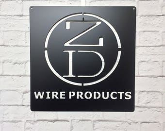 Company or Business Logo Sign, Custom Metal Business Sign, Metal Logo Sign, Custom Metal Signs and Logo, Available