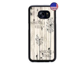 Cute Dandelion Life Quote Fashion Hard Rubber TPU Case Cover For Samsung Galaxy S8 S7 S6 Edge Plus S5 S4 S3 NOTE 5 4 3 2 iPod Touch 4 5 6
