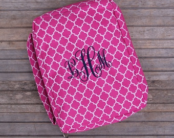 Monogrammed Bible Cover, Quatrefoil Bible Cover, Bible Cover