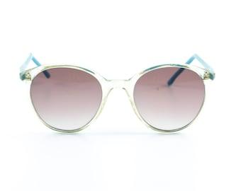 Vintage eyeglasses blue transparent frame glasses eyewear oversize specs Germany