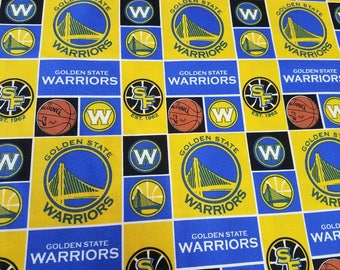 Golden State Warriors - by the yard Cotton Quilt Fabric!~