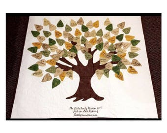 Family Tree Quilt / Family Reunion Quilt / Classroom Tree Quilt