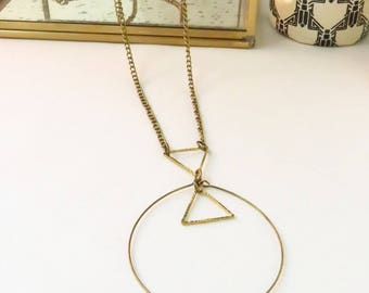 Long brass and metal triangle
