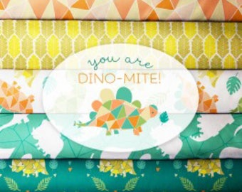 You Are Dino-Mite FQ BUNDLE, by Heather Rosas for Camelot Fabrics