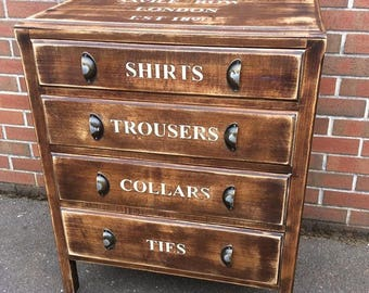 Vintage Bank Chest of Drawers Tailor Style