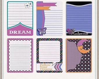 ON SALE NOW 65% off Dream Big Digital Scrapbook Extra Journal Cards