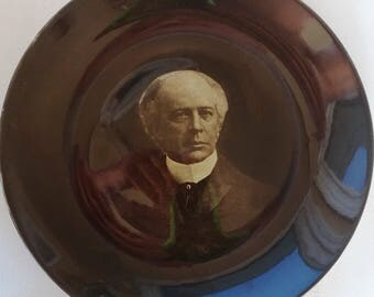 Sir Wilfred Laurier Prime Minister of Canada on July 11, 1896 on October 7, 1911 promotional plate over 120 years 1896 c