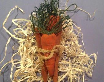 Primitive Easter bowl filler Primitive carrots Coffee died carrots Primitive Spring carrots