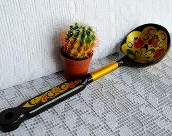 Olive wood spoons, cooking spoon, Big Soup Spoon, wood spoon, primitive country decor, Farmhouse kitchen decor, wood Soup ladle
