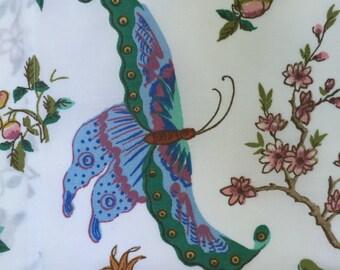 SALE ButterflyTable Topper Dresser Runner Botanical Type  Print  Measuring 15 3/4 X 38 Vintage