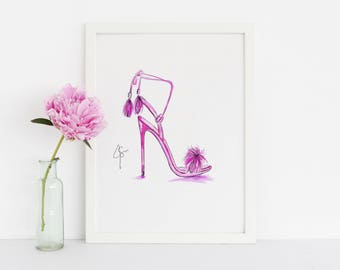 The Tassel Heel (Fashion Illustration Print)