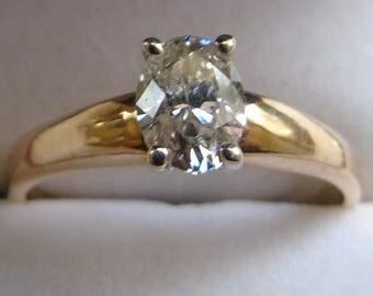 1.03 Carat Oval Diamond Ring
