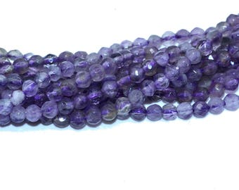 50 4mm natural Amethyst faceted beads