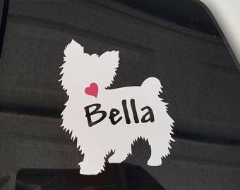 Yorkie, Yorkshire Terrier car Decal, Yorkie Dog Decal, Sticker,