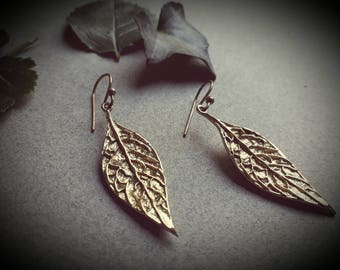 earrings *leaf*