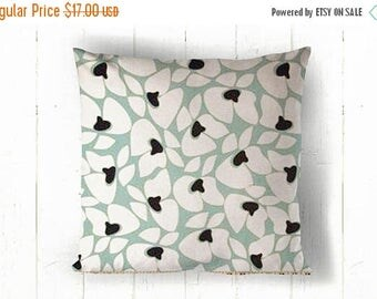 CLEARANCE Blue Cream Floral Pillow Cover - 16 x 16, One, Village Blue Helen
