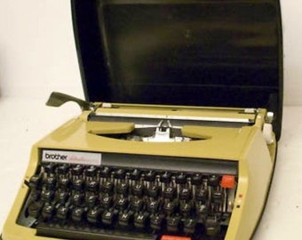 Vintage Brother Activator Manual Typewriter with Case!