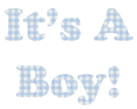 It's a Boy Blue Plaid Baby Shower Birthday - Edible Cake and Cupcake Topper For Birthday's and Parties! - D22796